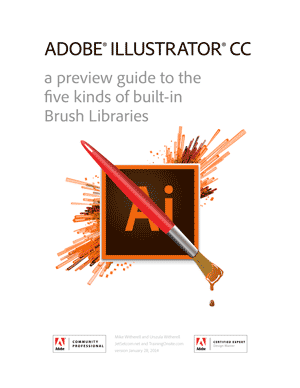 Illustrator CC 2014 brush libraries guide