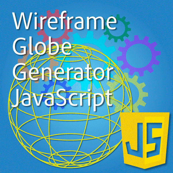 Illustrator javascript wireframe globe